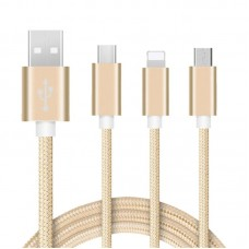 USB A TO USB C ,MICRO,LIGHTNING CABLE 3 IN 1 DATA CABLE