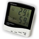 CLOCK TEMP * C& F HUMIDITY 10 - 90