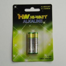 ALKALINE BATTERY AAA 1 , 5 V  ( 2 )