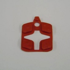 CENT. CLASSIC BUTTONS- RED ( 4 )