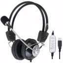 HEADPHONE MIC. W/ USB CABLE  2 M